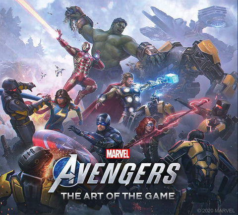 A photo of the artbook Marvel's Avengers the Art of the Game