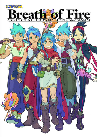 A photo of the artbook Breath of Fire: Official Complete Works