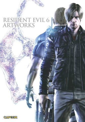 A photo of the artbook Resident Evil 6 Artworks