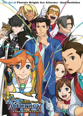 A photo of the artbook The Art of Phoenix Wright: Ace Attorney - Dual Destinies