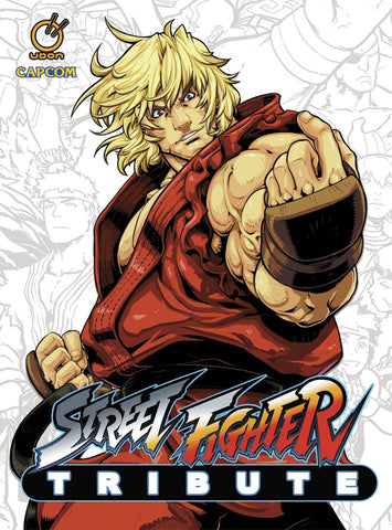 A photo of the artbook Street Fighter Tribute