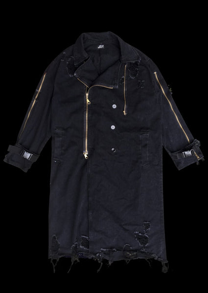 <transcy>DESTROY ZIPPED COAT</transcy>