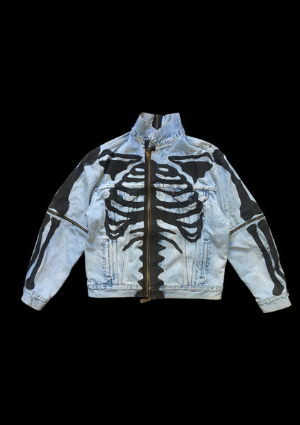 VESTE DENIM SKELETON