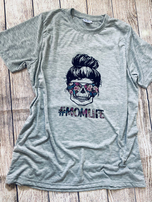 Floral Momlife (Grey)