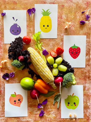fruits and vegetables learning set