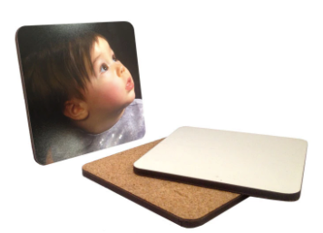 "Pack of 10 MDF Sublimation Drink Coasters - 4 X 4"" Square with Rounded Corners"
