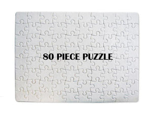 80 piece Blank Sublimation Puzzle - Set of 5