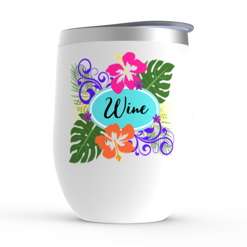 Stemless Wine Tumbler - White