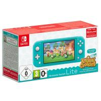 Consola portabila Nintendo Switch Lite Animal Crossing, turquoise