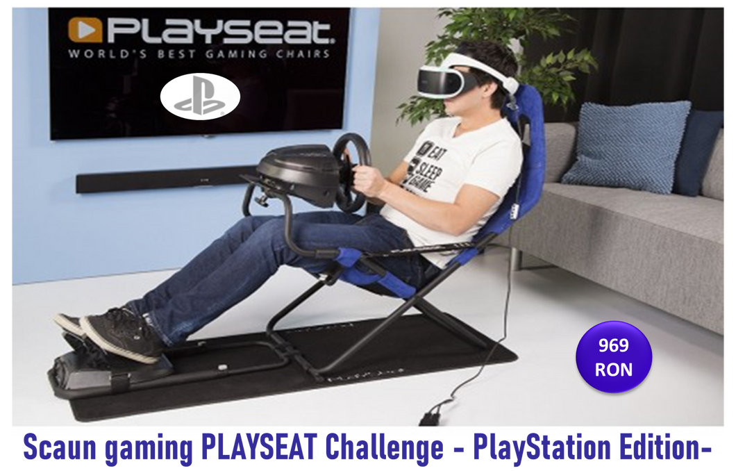 Scaun gaming PLAYSEAT Challenge - PlayStation Edition-