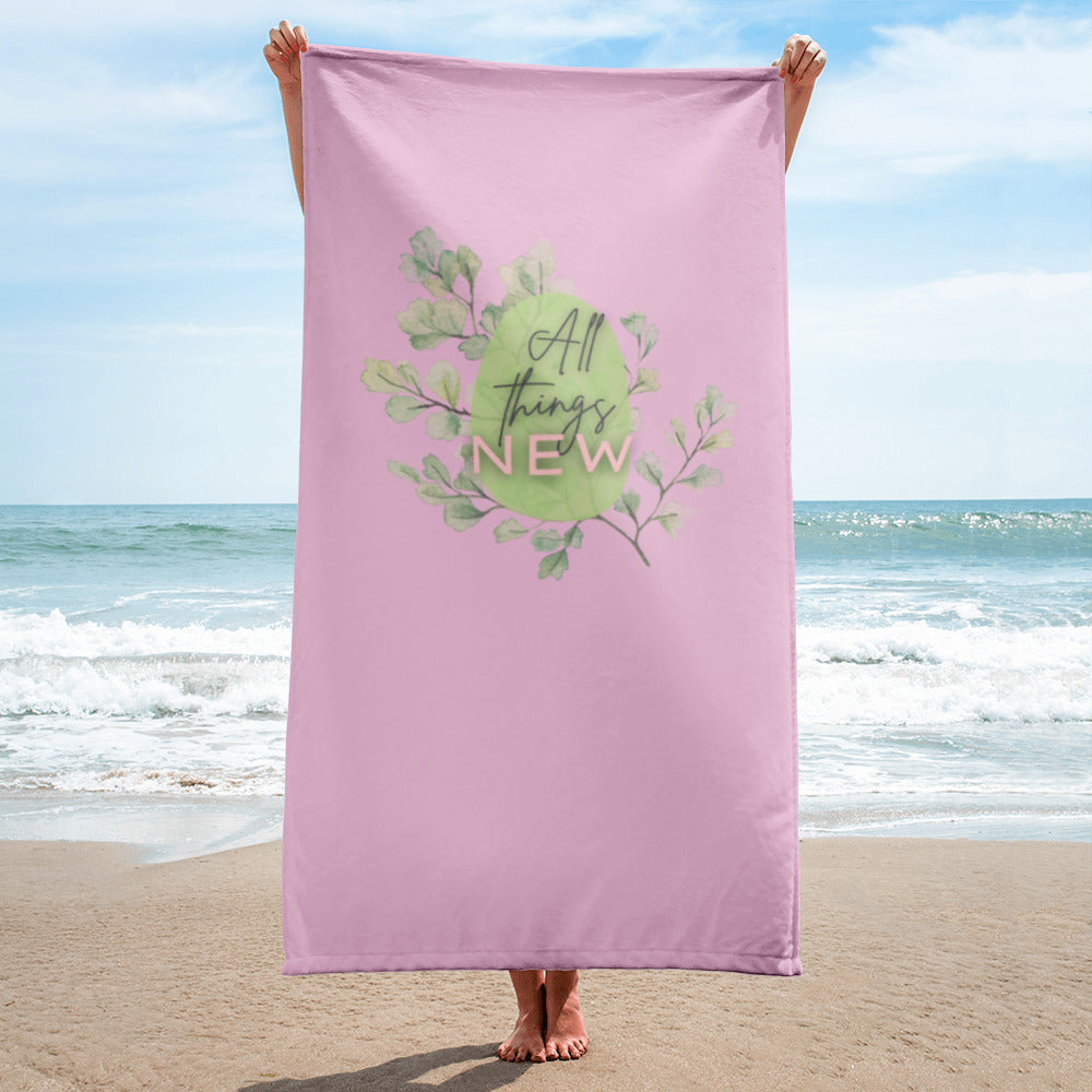 All Things New Gym and Beach Towel in Dreamy Pink
