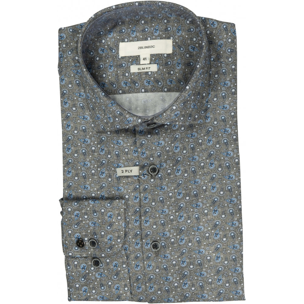 Fred Printed Fitted Shirt
