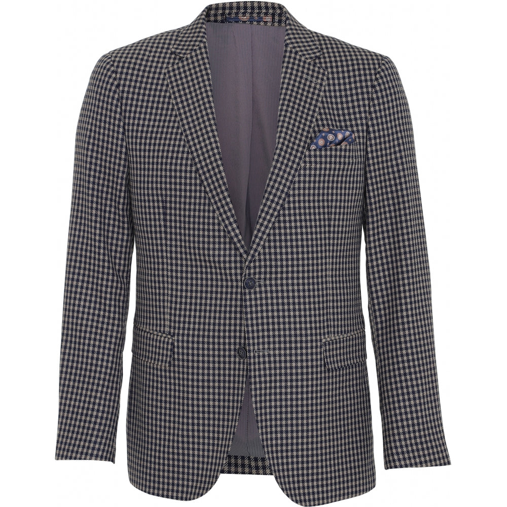 Load image into Gallery viewer, Fresco Fitted Stretch Blazer - NAV Navy