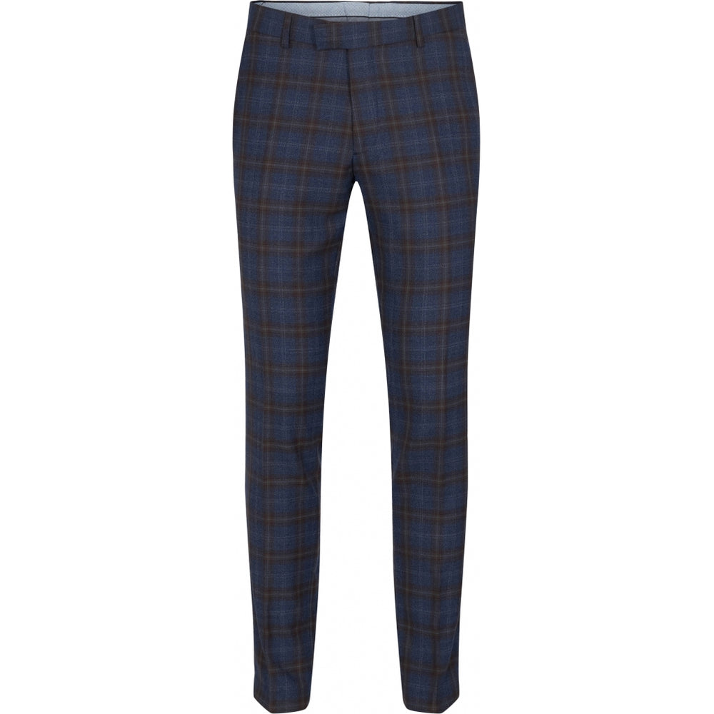 Fresco Check Wool Fitted Pant