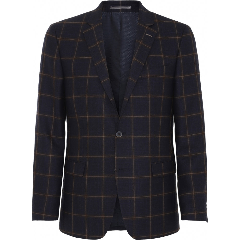 Madison Check Wool Blazer - NAV Navy