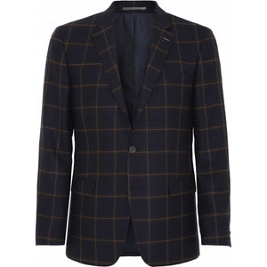 Load image into Gallery viewer, Madison Check Wool Blazer - NAV Navy