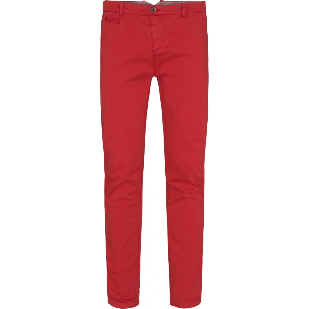 Pio Cotton Stretch Chino - RED Red