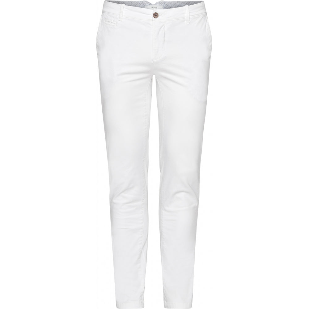 Pio Cotton Stretch Chino - WHT White