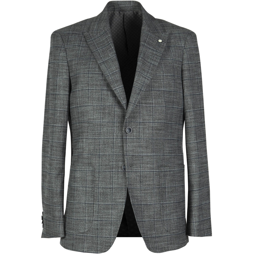 Stelvio Stretch Slim Blazer - NAV Navy