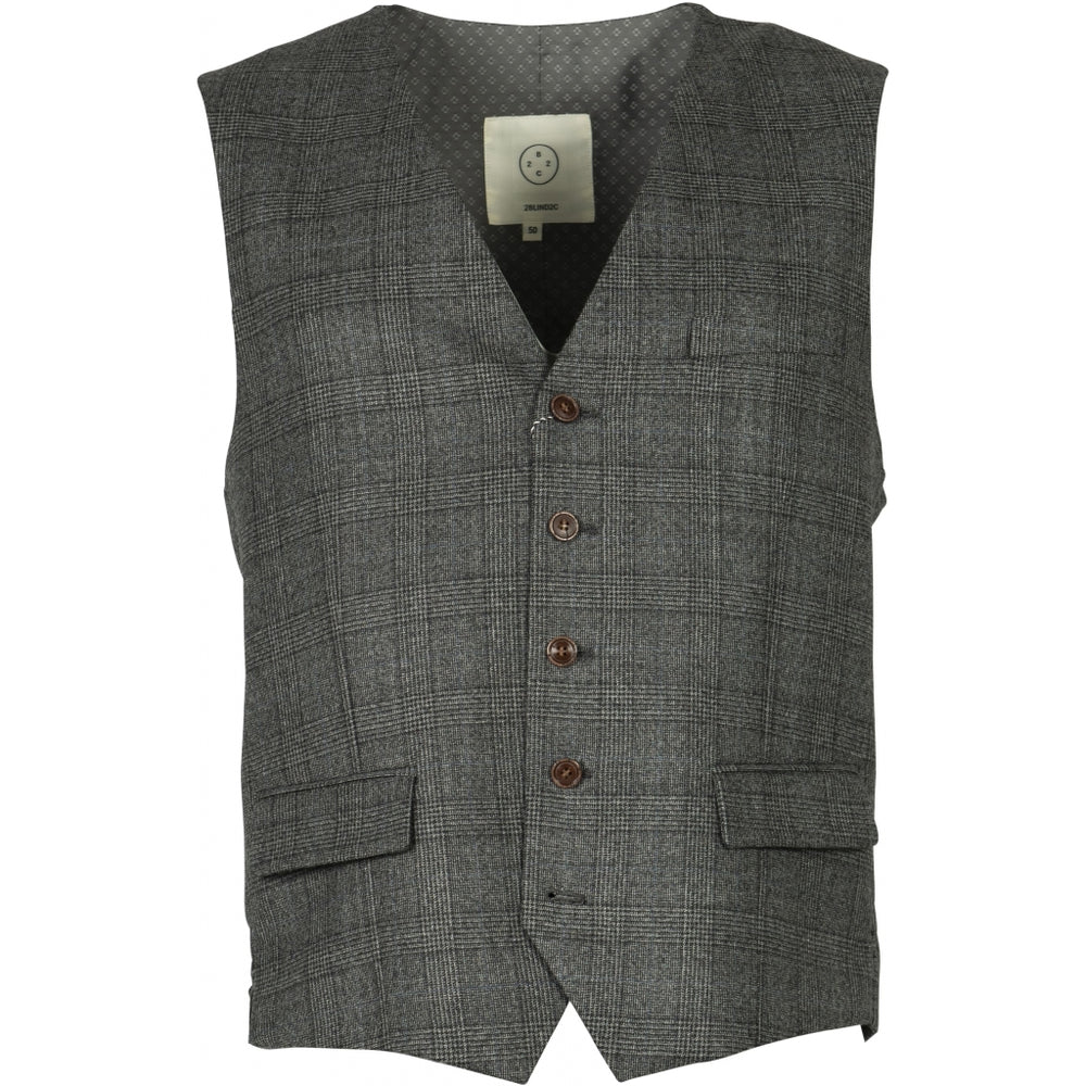 Wesley Check Wool Vest