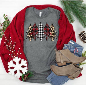 Bella Christmas Tree Graphic L/S Tee