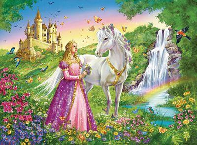 RAVENSBURGER PRINCESS WITH HORSE 200PC