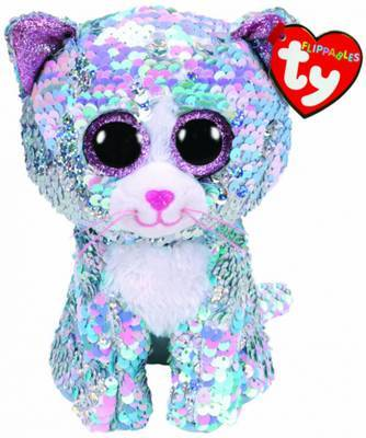 TY BEANIE SEQUIN WHIMSY IRIDESCENT CAT
