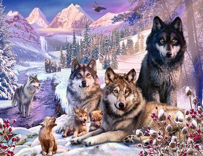 RAVENSBURGER WOLVES IN THE SNOW 2000PC