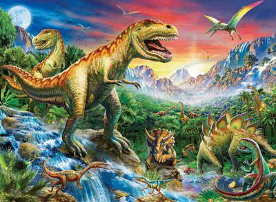 RAVENSBURGER TIME OF THE DINOSAURS 100PC