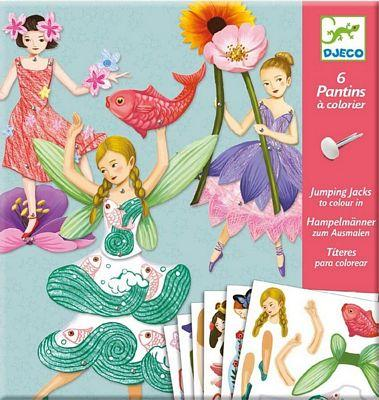 DJECO 6 PANTINS JUMPING JACKS - FAIRIES