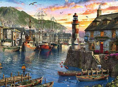 RAVENSBURGER SUNRISE AT THE PORT 500PC