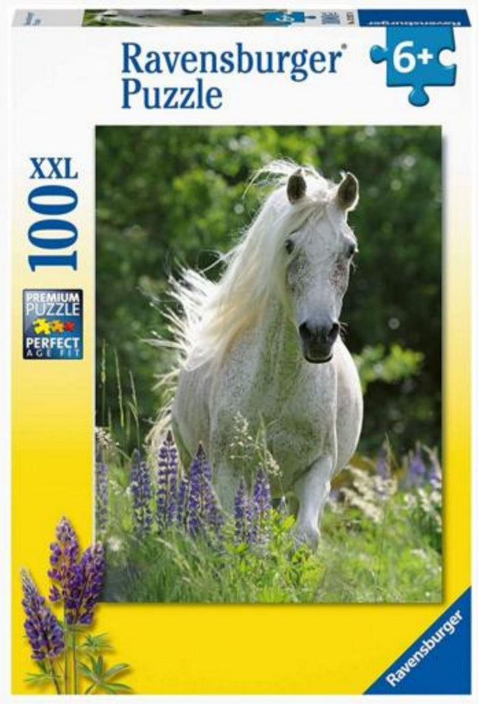 RAVENSBURGER HORSE IN FLOWERS 100PC