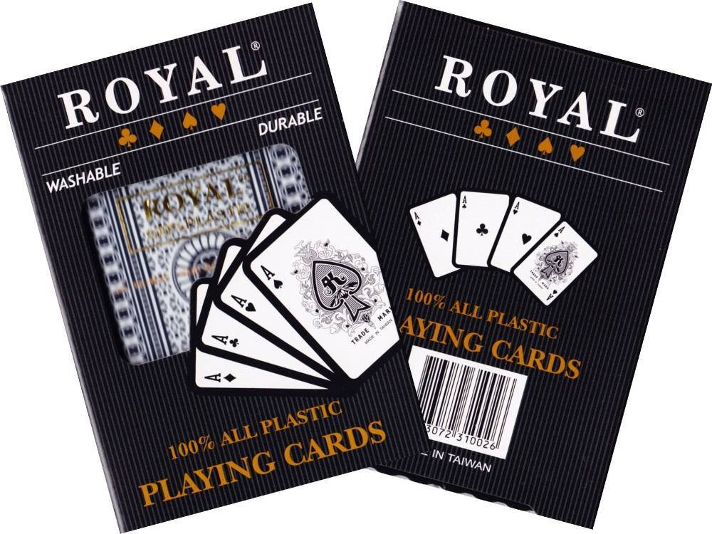 ROYAL 100% PLASTIC SINGLE CARDS