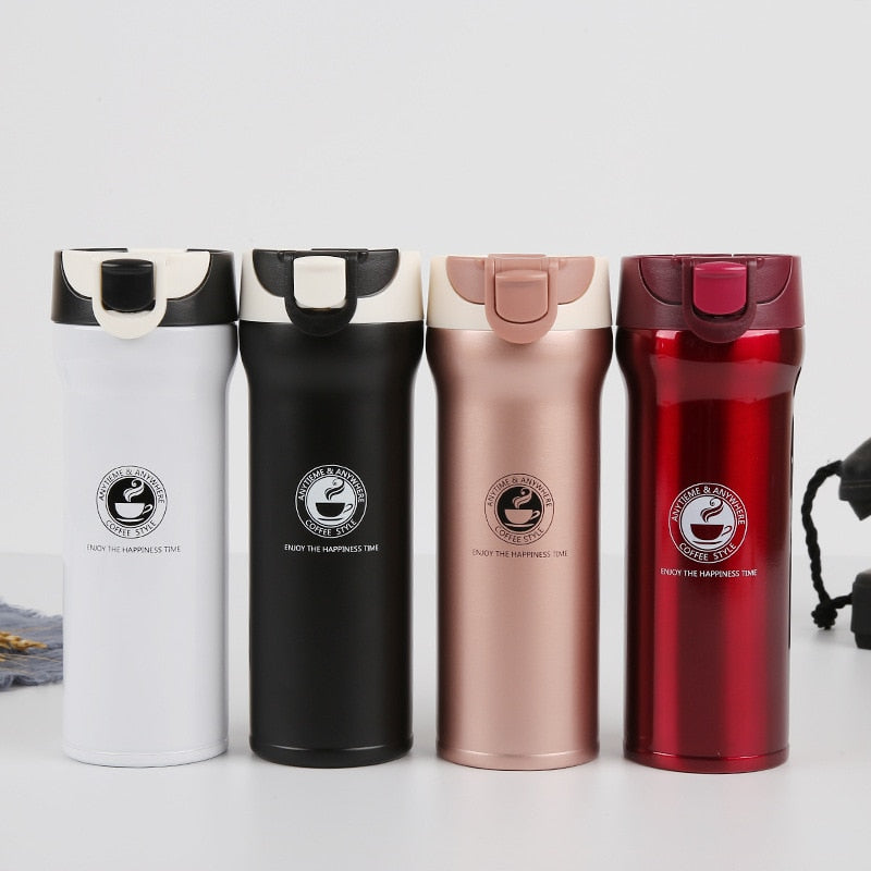 Vacuum Flask  Car Insulated Thermos Bouncing Mug
