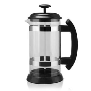 Glass French Press Pot Stainless Steel Coffee Maker