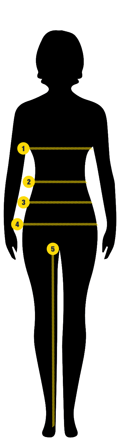 Ladies measuring guide