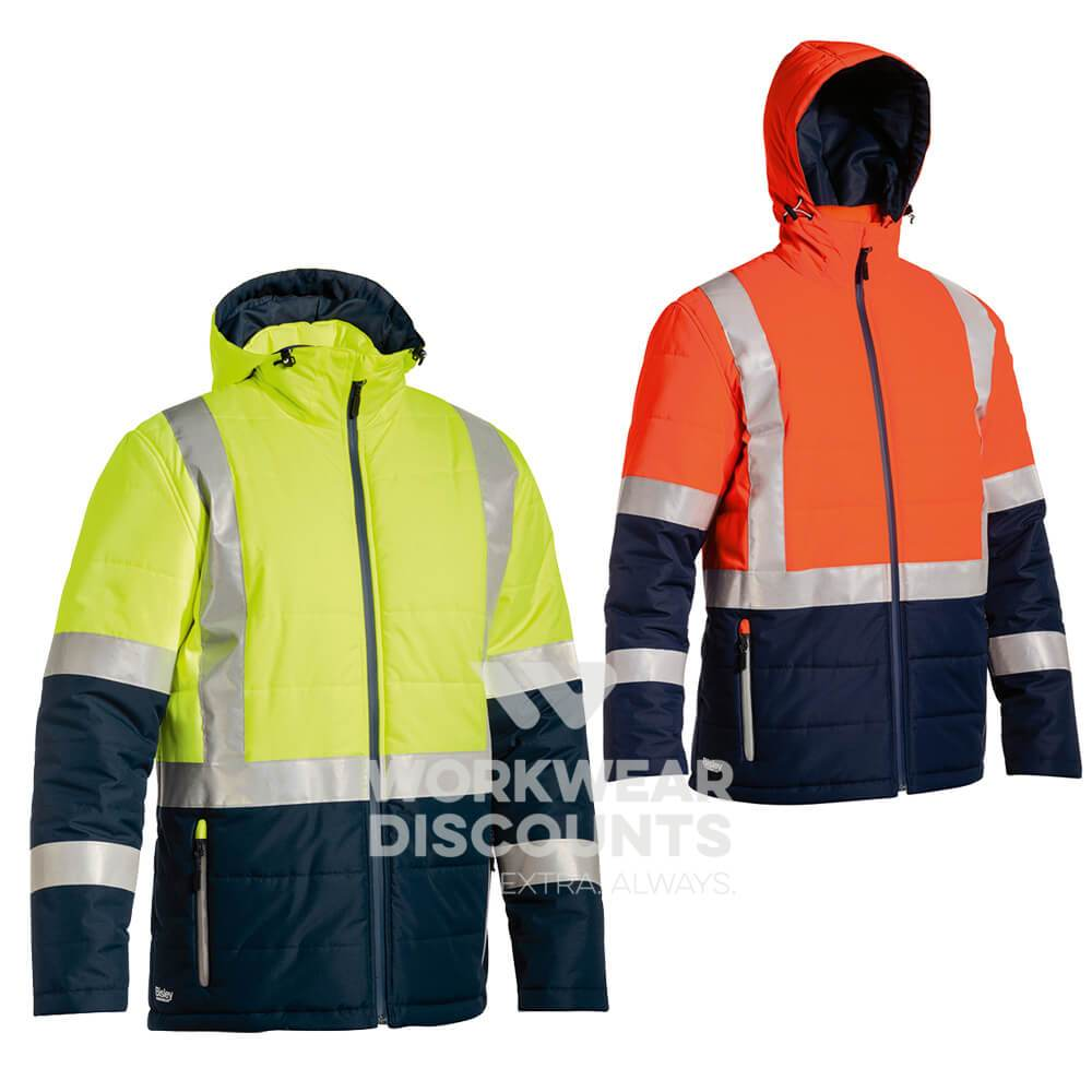 Bisley BJ6929HT Taped Two Tone Puffer Jacket