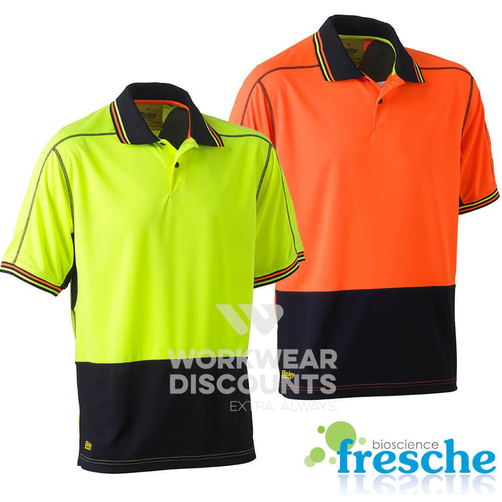 Bisley BK1219 Two Tone Hi-Vis Polyester Mesh Polo Short Sleeve