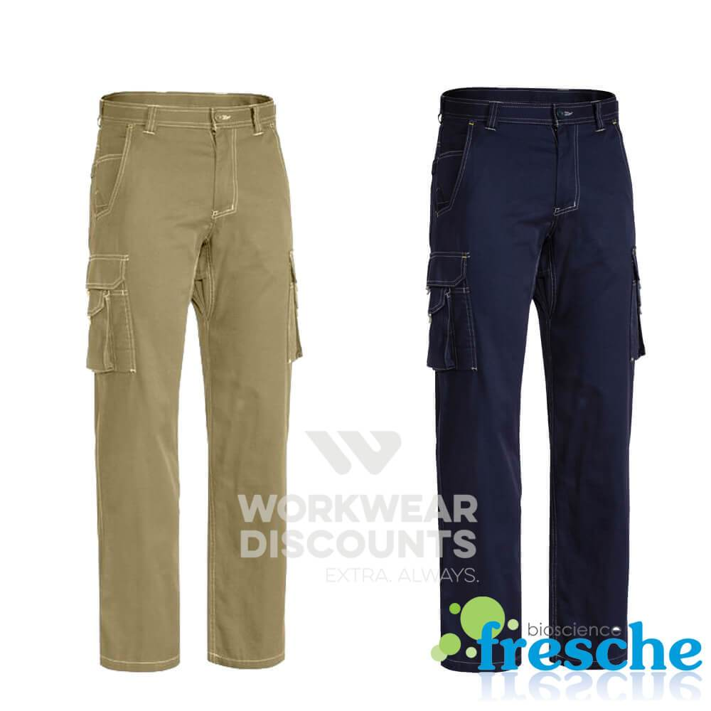 Bisley BPC6431 Lightweight Vented Cotton Drill Cargo Pants