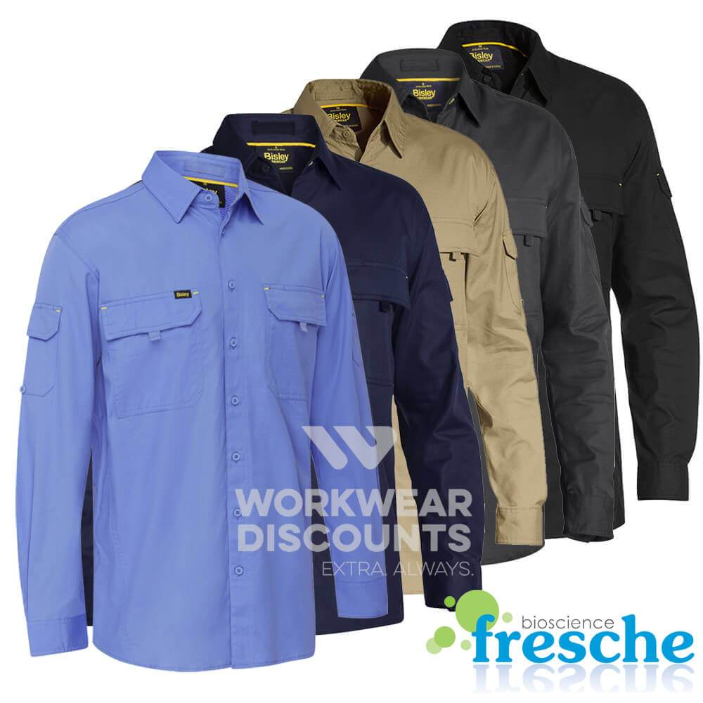 Bisley BS6414 Airflow Ripstop Vented Work Shirt Long Sleeve