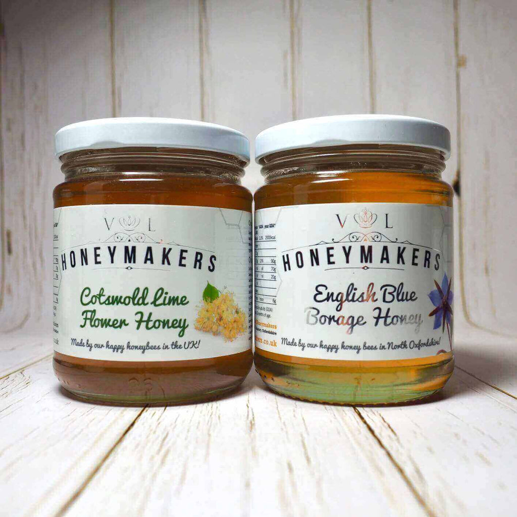 Premium Cotswold Lime flower honey and English blue borage honey. 340g