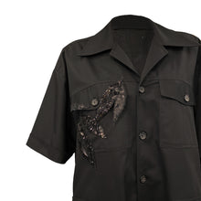 Load image into Gallery viewer, Oversize Black Shirt With Sequined Details