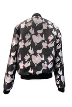 Load image into Gallery viewer, Unisex Bomber Jacket - Woman Print - Black And White