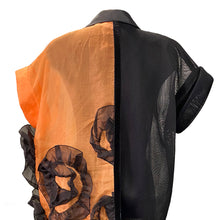 Load image into Gallery viewer, Black And Orange Organza Dress