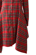 Load image into Gallery viewer, Red tartan shirt - Slim fit