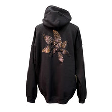 Load image into Gallery viewer, Black Hoodie With Copper Sequin Embroidery