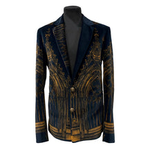 Load image into Gallery viewer, Velvet Jacket With Castle Print