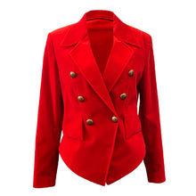 Load image into Gallery viewer, Red Velvet Women's Blazer