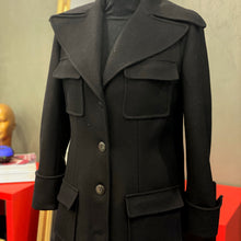 Load image into Gallery viewer, Black Wool Coat