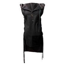 Load image into Gallery viewer, Asymmetrical Black Wool Vest